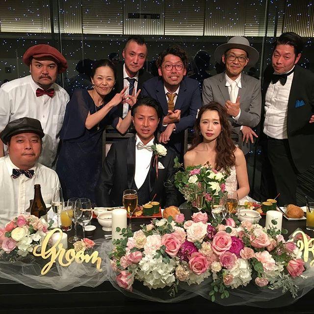 【婚礼御礼】Ninety-U & Hitomiちゃんの結婚式及び結婚披露パーティーは滞りなく無事に終了しました!披露宴ではThe Kulture Krubの演奏でJage georgeのDown Beat Ruleのハーモニーやらせていただきました。もう描ききれない程の楽しい時間を過ごしました。そしてたくさんの幸せオーラをいただきました。ほんまにおめでとうございます。そしてありがとう!これからもずっとお幸せに。三次会のDREADBEAT BASSMENTもめちゃめちゃおもろかった!各セレクター全員最高やってずっと踊ってました♪そしてこの日通算5回もDown Beat Ruleを熱唱したジャーゲのハモリやカットマンやって超楽しかった!!俺にとってもこの日は本当にいい思い出になりました!(^^)! GIVE A THANKS★#KUMA0603