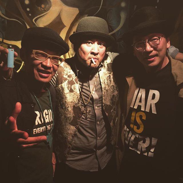 【巡業御礼】ZION TRAIN at CLUB LIFE無事終了しました(^^)先輩達との楽しい宴でした!Mi and ZEBRAMAN and BEARMAN