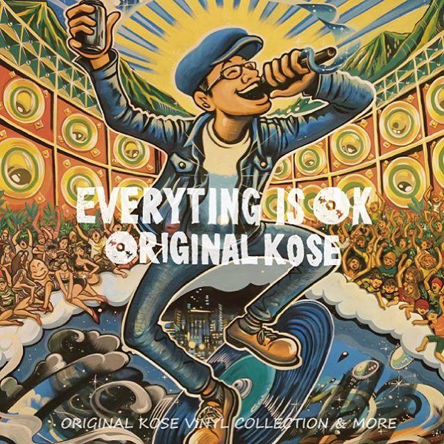 """6/7発売!ORIGINAL KOSE 1st Album""""EVERYTING IS OK""""ジャケット画像です。#everyting_is_ok"""